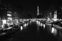 Amsterdam Canal (lukedrich_photography) Tags: longexposure bridge light reflection building tower history church water netherlands amsterdam architecture night canon dark religious boat canal europa europe european religion scenic nederland culture prinsengracht paysbas protestant waterway westerneurope niederlande   westerkerk reestraat     pasesbajos   msterdam      kingdomofthenetherlands  westernchurch  t1i canont1i