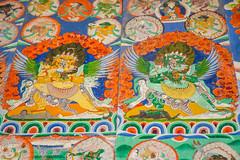 Heruka with Consort - Also in Colour (Andrew Luyten) Tags: nepal buddhism himalaya lho heruka westernregion manaslucircuit mountainkingdoms