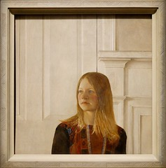 Siri by Andrew Wyeth 1970. Brandywine River Museum of Art. Denver Art Museum, Andrew and Jamie Wyeth in the Studio (Travel to Eat) Tags: portrait woman wyeth siri andrewwyeth