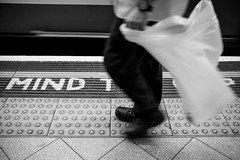 ::::.:::.::MIND THE GAP::.:::.:::: (Cem Bayir) Tags: street leica england people motion blur london monochrome station train 35mm underground moving movement traffic metro circus f14 tube gap streetphotography piccadilly cleaning mind cleaner lux summilux asph leicam asperical leicalove 35mmf14summiluxasph leicam240
