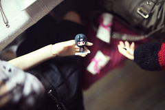 """""""...is that the Itachi figure?"""" (lightlybattered) Tags: christmas tree dinner ball miniature doll williams f16 michele bjd superdollfie volks cecile tae abjd fcs jointed balljointed sdgr sd17 volksdoll"""