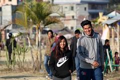 Lovely Conversations (rajeev maskey) Tags: travel nepal boy love nature girl young pokhara fewalake