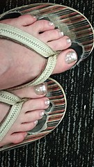 out of focus a bit (tammye*) Tags: foot feet toes painted pedi pedicure winner superhero hero shiny silver tcf thechallengefactory
