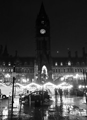 Rainy city (plot19) Tags: england blackandwhite english rain manchester photography town hall mood northwest britain sony north british northern rx100 plot19