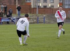 Nicky Little celebrates giving Bankies the lead (Stevie Doogan) Tags: park west scotland scottish first super juniors division league holm clydebank bole maybole bankies mcbookiecom