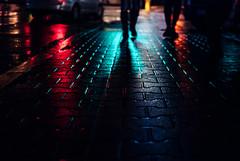 135/365 Discothque (ewitsoe) Tags: street windows winter urban streets cold metal night 35mm walking lights neon day cityscape walk polska pedestrian sidewalk poznan wetpavement poalnd nikond80 ewitsoe
