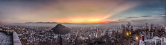 Plovdiv (ilian_bozhanov) Tags: city travel light sunset sky sun beautiful night landscape bulgaria lands plovdiv hils