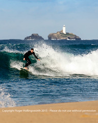 Riding the wave! (doublejeopardy) Tags: sea beach sand cornwall surf waves surfer gwithian hayle