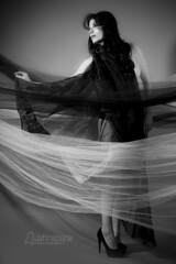 Kessa (austinspace) Tags: portrait blackandwhite bw woman white black monochrome nude washington model spokane dancer brunette alienbees
