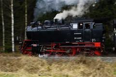 99 6001 at Speed (gooey_lewy) Tags: 2 6 mountain motion blur train germany t shot engine rail railway loco 99 german prototype locomotive pan meter bahn gauge narrow harz hof metre hsb 6001 262t haferfled