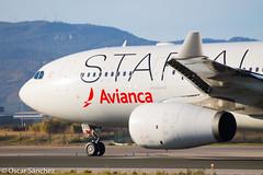Avianca A330 STAR ALLIANCE (Oscar Sánchez Photo) Tags: star bcn airbus a330 spotting departing alliance avianca lebl