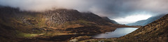 Cwm Idwal I (Cintramontane) Tags: panorama mountains water clouds landscape rocks skies
