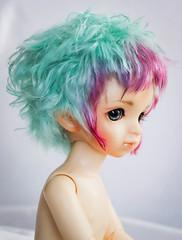Angora mohair wig for sale (SophyMolly) Tags: male berry doll sale mint puff wig short mohair bjd angora custom volks abjd 67 adoption customdoll