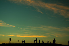 20150809-114_Everyone's Watching The Sunset (gary.hadden) Tags: sunset seascape landscape evening silhouettes figures saintmalo stmalo