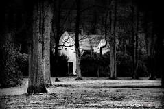 hidden (LL) Tags: bw friedhof white black cemetery graveyard chapel sw alter gelsenkirchen schwarz burialground weis buer friedhofskapelle