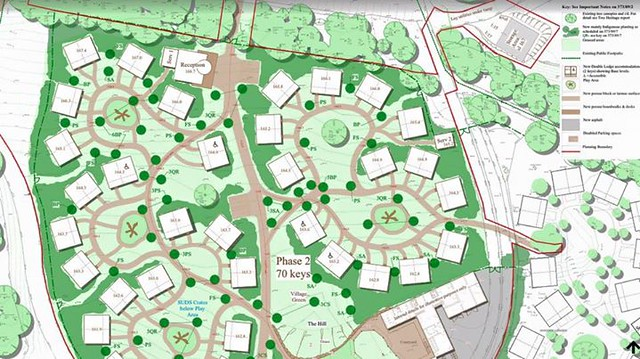 Abandoned plans for phase two of The Enchanted Village