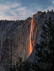Horsetail Firefall (mikeSF_) Tags: california ca winter clouds waterfall nationalpark pentax outdoor yosemite yosemitenationalpark elcapitan horsetailfalls firefall 150mm fa150 mikeoria 645z
