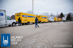 Islamic Relief USA had 10 trucks of water that they distributed with local partners to the residents of Flint.