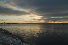 Lev du soleil (Mmarichka) Tags: sea sky sun mer colors weather landscape soleil eau cte ciel nuage temps paysage couleur meteo rivage exterieur