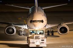 Itami Airport at night 2016.1.31 (4) JA306K / ANA WINGS' B737-500 (double-h) Tags: airplane ana observationdeck b737 itamiairport  itm osakaairport  rjoo  b737500 ja306k  ef300mmf28lisiiusm  anawings ana lasora eos7dmarkii