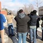 Students in the tweetspeak cluster using their binoculars