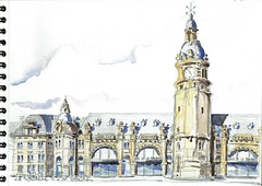 La Rochelle, la Gare (Croctoo) Tags: gare aquarelle maritime larochelle ville charente croquis croctoo