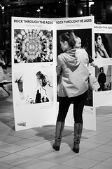 'Rock through the Ages' (cathbooton) Tags: blackandwhite station rock liverpool canon exhibition photographs limestreet amywinehouse onlooker rockthroughtheages denisoregan