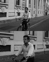 [La Mia Citt][Pedala] (Urca) Tags: portrait blackandwhite bw bike bicycle italia milano bn ciclista biancoenero mir bicicletta 2015 pedalare dittico nikondigitale ritrattostradale 795274