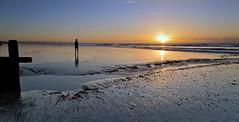 Running back (Through Bri`s Lens) Tags: reflection sunrise sussex stream lowtide groyne lancing brianspicer canon5dmk3
