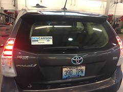 I wish this guy stood a better chance (stevenbr549) Tags: shop carson sticker ben presidential v bumper prius toyota candidate republican campaign 2016