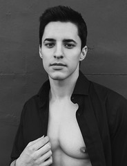 Photo Shoot : Erick (jkc.photos) Tags: blackandwhite man male monochrome fashion model photoshoot actor