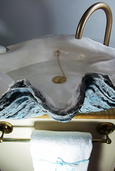Blue Sink 3 (LittleGems AR) Tags: ocean blue sea sculpture sun beach home giant bathroom shower aquarium soap sand bath sink unique decorative aquamarine shell craft style toilet towel clam basin special clean shampoo taps wash seashell pearl nautical reef decor spa luxury opulent fossils clamshell mollusks cloakroom bespoke tridacna sculpt crafted gigas facetowel