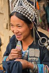 Akha embroidery 1 (Laura Jacobsen) Tags: laos hilltribe akha phongsaly phongsali akhanoukouy