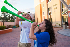 Campus February 2016 066 (FGCU | University Marketing & Communications) Tags: students horns fgcu southvillage vuvuzela sovi photocreditjamesjgreco floridagulfcoastuniversity
