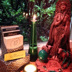 Create Difference: Word(s) of the Day 2/15/2016 (alisonleighlilly) Tags: inspiration creativity poetry candle calendar goddess diversity altar difference meditation brigid paganism sovereignty druidry oillamp polytheism uulent