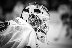 Henrik Haukeland 2015-08-22 (Michael Erhardsson) Tags: white black goalie mask if henrik haukeland lif nrbild svartvitt ishockey mlvakt leksands hockeyallsvenskan 20150822