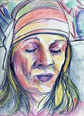 Entranced (Gila Mosaics n'stuff) Tags: portrait art artist prismacolor portraitparty jkpp