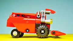 Small Lego Technic Combine Harvester (MOC) (hajdekr) Tags: steering lego small wheels creation technic combine micro easy agriculture harvester moc agro microspace combineharvester legotechnic myowncreation microscale scythebar