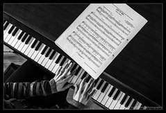 Playing Frozen! (andythekeys) Tags: blackandwhite musician music playing monochrome frozen piano disney fromabove babygrand letitgo