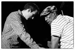 Louis Moholo-Moholo's Five Blokes @ Vortex Jazz Club, London, 16th March 2016 (fabiolug) Tags: leica blackandwhite bw music vortex london monochrome hat zeiss 50mm blackwhite concert chat faces live candid gig livemusic performance piano jazz rangefinder cap conversation monochrom talking johnedwards biancoenero dalston sonnar pianoforte freejazz leicam zeisssonnar 50mmf15 jasonyarde alexanderhawkins fiveblokes louismoholo vortexjazzclub sonnar50mm fourblokes shabakahutchings zeisscsonnar louismoholomoholo zeisszm50mmf15csonnar mmonochrom leicammonochrom leicamonochrom zeisscsonnartf1550mmzm vortexjazz