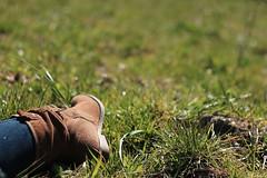 Sunny rest day / Repos au soleil (Pito Charles) Tags: sun france alps detail macro annecy nature grass alpes canon french relax outside boot soleil spring focus quiet natural boots zoom hill naturallight sunny calm heels heel savoie printemps franais champ calme colline haute francais herbe lumirenaturelle hautesavoie rhonealpes rhnealpes 70d canoneos70d