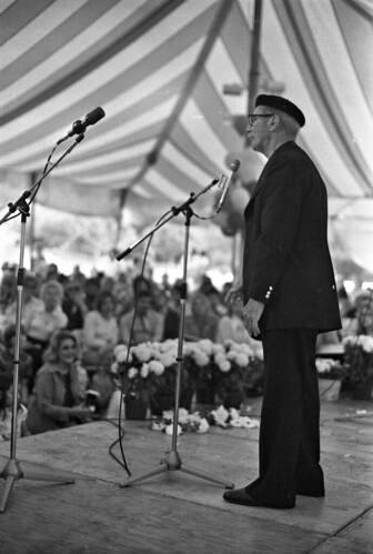 Groucho Marx  at Rancho Mission Viejo, 1974