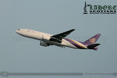 Thai Airways - Boeing 777-2D7 - HS-TJA (raihans photography) Tags: pakistan canon eos boeing dslr canondslr lahore efs tha tg thaiairways boeing777 b777 lhe b772 opla canonefs 60d lahoreairport allamaiqbalinternationalairport hstja aiia canonefslens canonefs55250mmf456is canonefs55250f456is canoneos60d boeing7772d7 raihans raihanshahzad aiiap raihansphotography boeing777family tg346 tha346