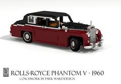 Rolls-Royce Phantom V - 1960 (lego911) Tags: auto classic car model lego 5 render rollsroyce v rolls motor 1960s phantom saloon luxury limousine v8 royce cad 1960 povray moc ldd miniland foitsop lego911