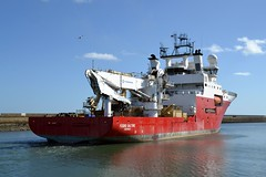 Fugro Saltire. Blyth 250316 (silvermop) Tags: sea port river boats ship offshore ships blyth offshorevessels fugrosaltire