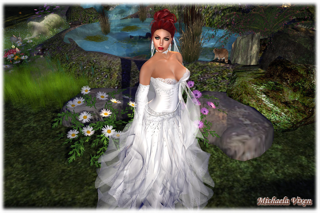 e7ddb1738ebc Michaela - A Vision in White 01 (Michaela Vixen) Tags: park trees wedding