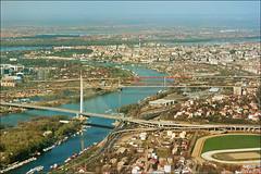 Belgrade on Danube and Sava 01 (Katarina 2353) Tags: europe cityscape serbia bridges aerialview belgrade beograd sava donau srbija katarinastefanovic katarina2353