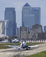 British Airways ERJ170 ~ G-LCYD ( Freddie) Tags: london londoncityairport ghostsigns newham e16 lcy royaldocks eglc runway27