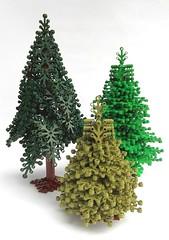 Fichte & Tanne (Spruce & fir) (omega 3108) Tags: tree pine lego fir kiefer spruce baum fichte tanne moc omega3108