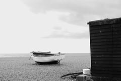 It was cold and windy but at least we had chips (Grooover) Tags: sea beach boats suffolk shed aldeburgh grooover